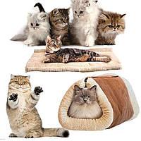 Теплый лежак-кровать для кошки 2 in 1 Kitty Shack