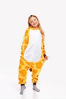 Пижама кигуруми Жираф для детей Funny Mood 130 СМ Оранжевая