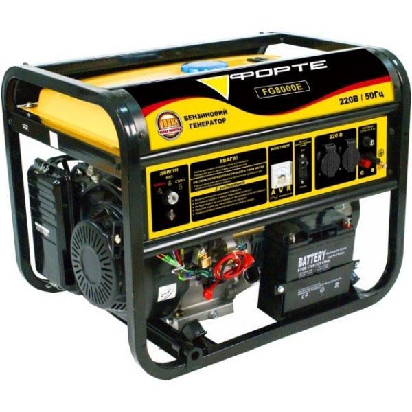 Генератор бензиновий 6 кВт., Ручний/Електро Forte FG8000E (44892)