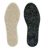 Зимние стельки для обуви 100% шерсть + фетр