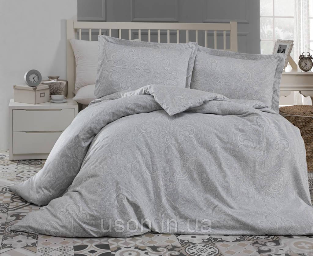 Купить Комплект постельного белья сатин Altinbasak Easter gri евро