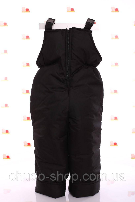 Детский зимний полукомбинезон, черный (размеры 86, 92, 104,116)