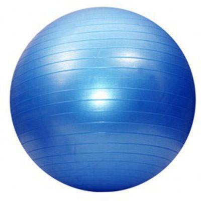 Фитбол (мяч для фитнеса)  Gym Ball 55 см (с насосом) синий, фото 2