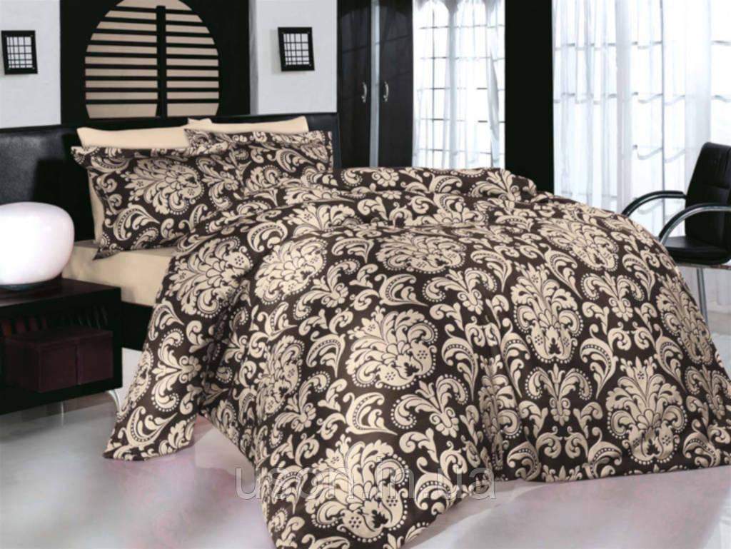 Купить Комплект постельного белья сатин Altinbasak Era Kahve евро