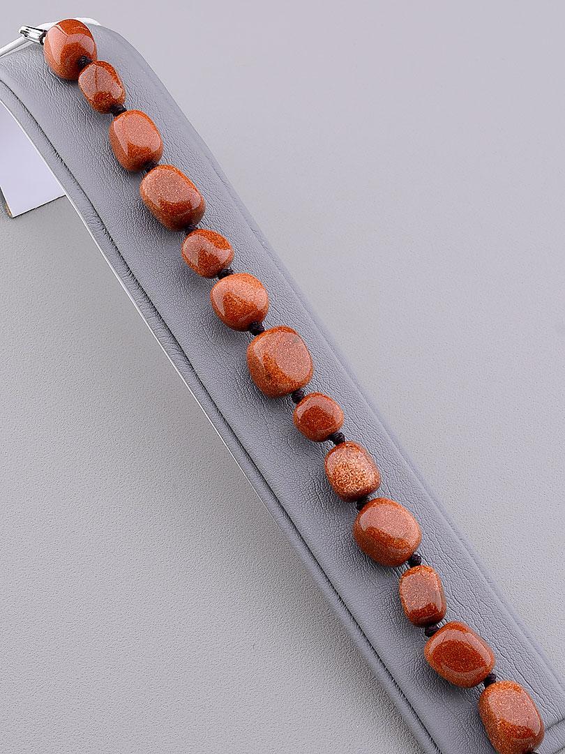 Браслет Авантюрин коричневый брусочками