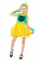 Детский карнавальный костюм для девочки «Дынька» 115-125 см, желтый, фото 1