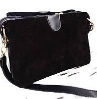 """Женский клатч """"Zara"""", замшевый, стильный, черный,  000192-2"""