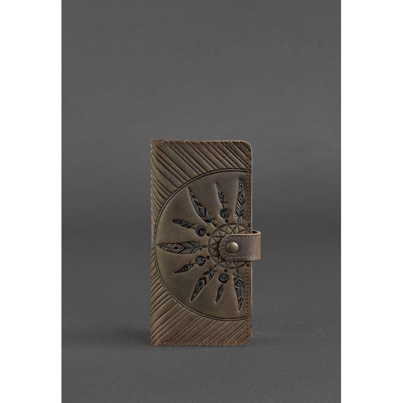 Кожаное женское портмоне 7.0 Инди темно-коричневое