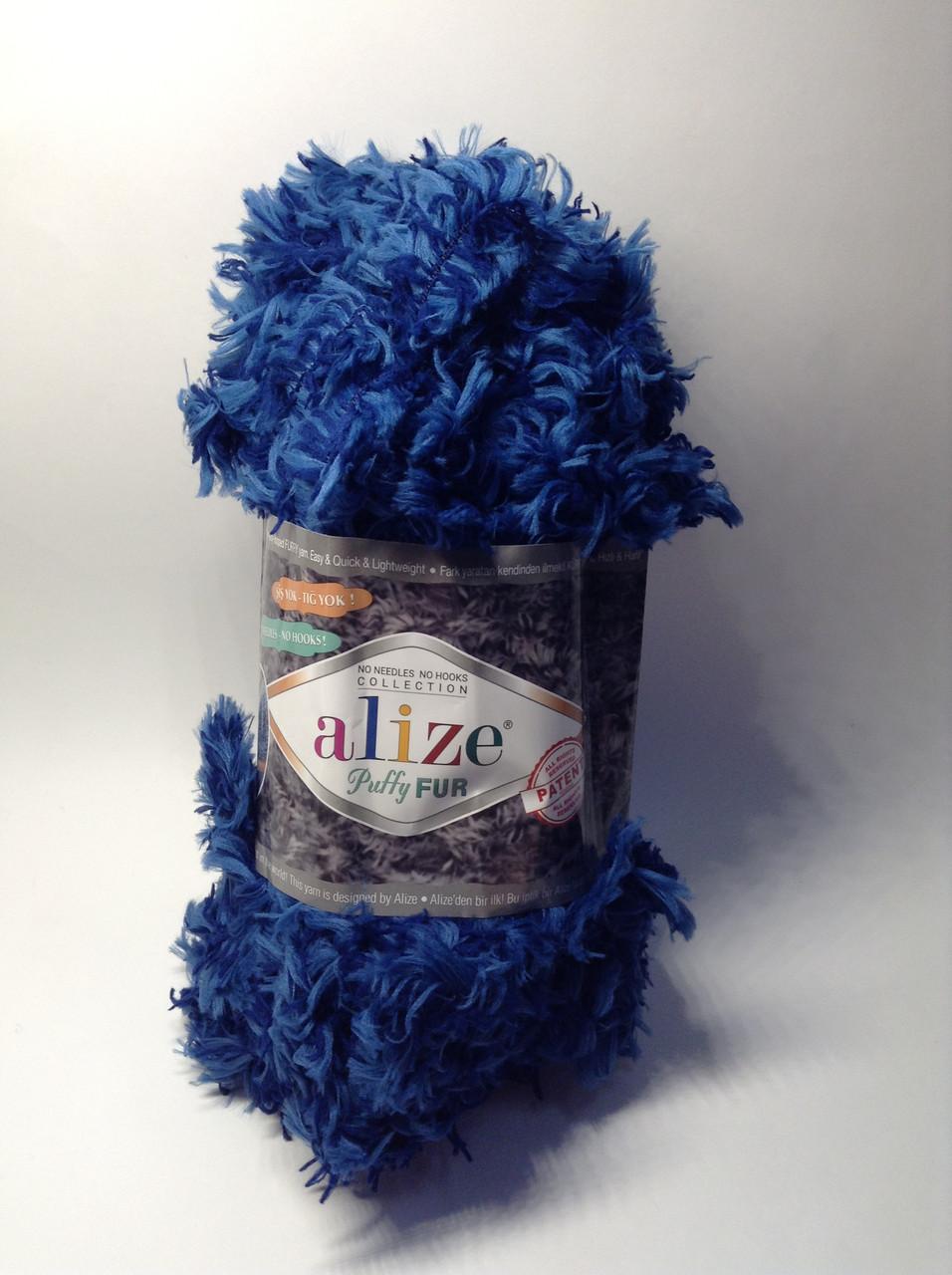 Пряжа для вязания руками без спиц Puffy Fur Alize (100 грамм - 6 метров)