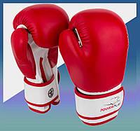 Боксерские перчатки 3004 JR Червоно-Білі 6 унцій
