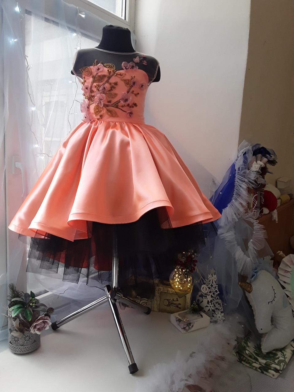Детское платье Сакура. Платье эксклюзивное в единственном экземпляре подойдет на рост 122-128-134