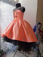 Дитяче плаття Сакура. Ексклюзивне плаття в єдиному екземплярі підійде на ріст 122-128-134, фото 2