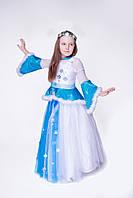 Детский карнавальный костюм для девочки Снежинка «Зимняя канитель» 130-140 см, белый