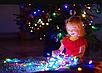 Гирлянда кристал двухцветная лампа 100LED 9м Микс, Новогодняя бахрама, Светодиодная гирлянда, Уличная гирлянда, фото 5