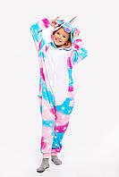 Пижама кигуруми Единорог Магическяя для детей Funny Mood 130 СМ Разноцветная