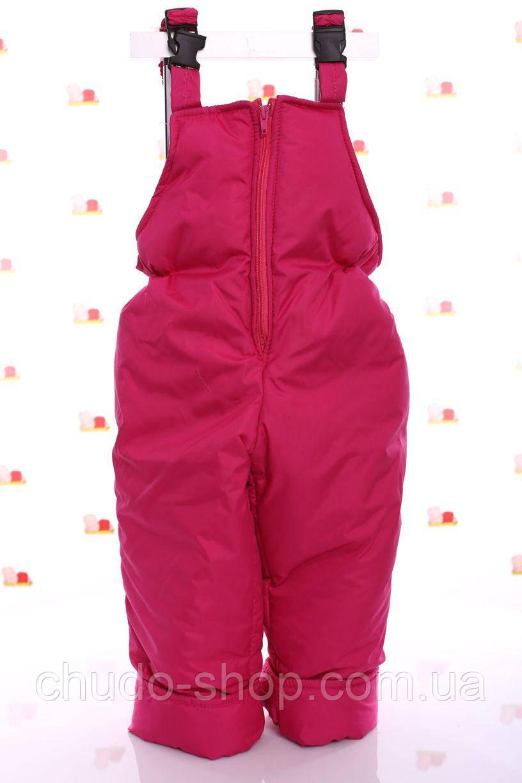 Детский зимний полукомбинезон, розовый (размеры 86, 92, 104,116)