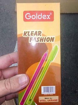 Ручка шариковая Klear fashion синяя 12шт Goldex