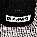 Модная мужская шапка Off-White черная Турция Офф вайт Хайповая шерсть Трендовая зима VIP Молодежная реплика, фото 2