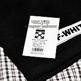 Модная мужская шапка Off-White черная Турция Офф вайт Хайповая шерсть Трендовая зима VIP Молодежная реплика, фото 3