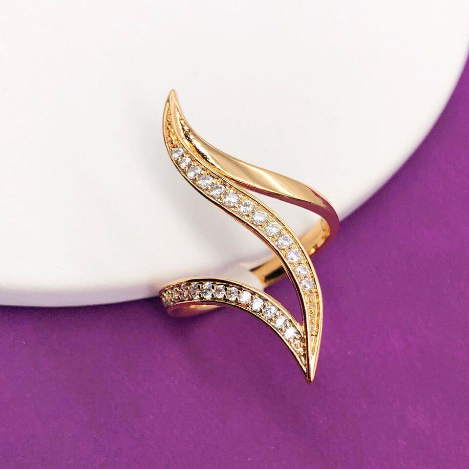 """Кольцо Xuping Jewelry размер 18 """"Лия"""" медицинское золото позолота 18К. А/В 4560"""