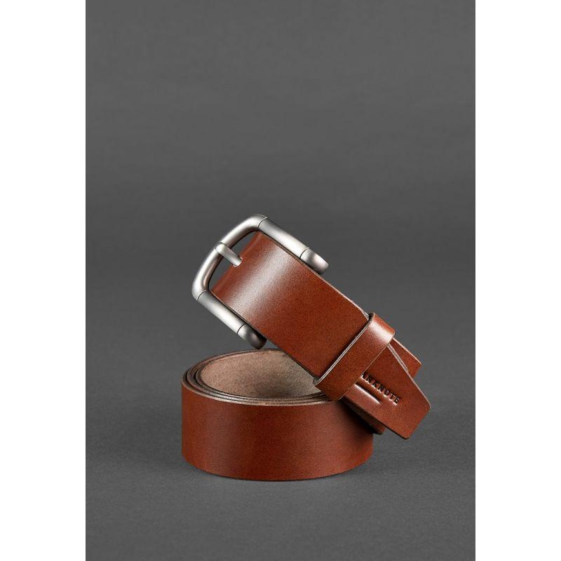 Мужской ремень 40 мм коричневый