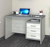 Стіл комп'ютерний Кубик 2 крафт білий/металік