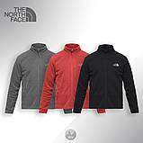Теплая флисовая кофта The North Face (black), черная кофта The North Face (Реплика ААА), фото 2