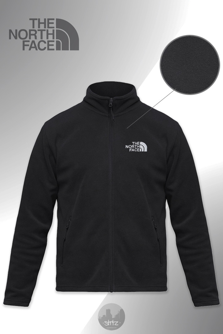 Теплая флисовая кофта The North Face (black), черная кофта The North Face (Реплика ААА)