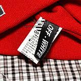Хайповая мужская шапка Off-White красная Турция Офф вайт Хайповая Новинка 2020 года зима Молодежная реплика, фото 5