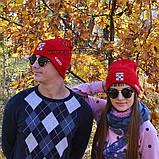 Хайповая мужская шапка Off-White красная Турция Офф вайт Хайповая Новинка 2020 года зима Молодежная реплика, фото 7