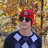Хайповая мужская шапка Off-White красная Турция Офф вайт Хайповая Новинка 2020 года зима Молодежная реплика, фото 8