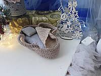 Вязанная люлька и постелька