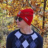 Хайповая мужская шапка Off-White красная Турция Офф вайт Хайповая Новинка 2020 года зима Молодежная реплика, фото 9