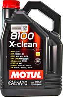 Моторное масло Motul 8100 X-Clean 5W-40 Объем 5л