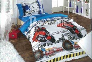 Двухспальный постельный комплект Мототрек