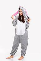 Пижама кигуруми Негодяй Кролик Funny Mood M Серая
