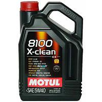 Моторное масло Motul 8100 X-Clean 5W-40 Объем 4л