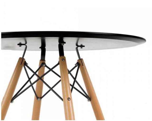 Стол Тауэр Вуд, дерево, бук, диаметр 100 см, цвет черный (3)