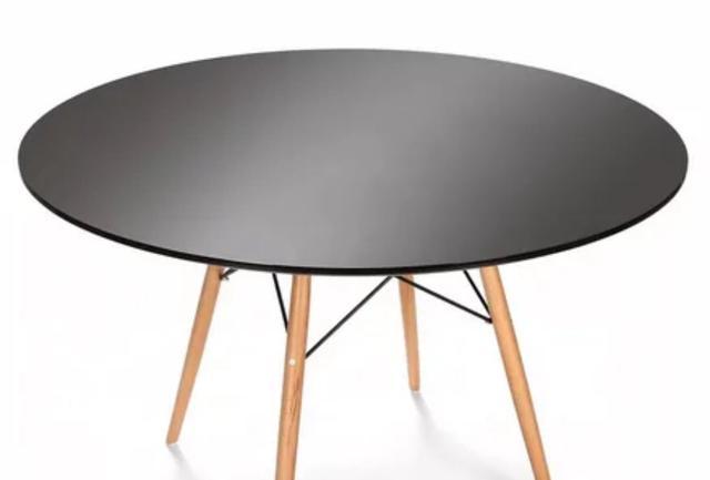 Стол Тауэр Вуд, дерево, бук, диаметр 100 см, цвет черный (4)