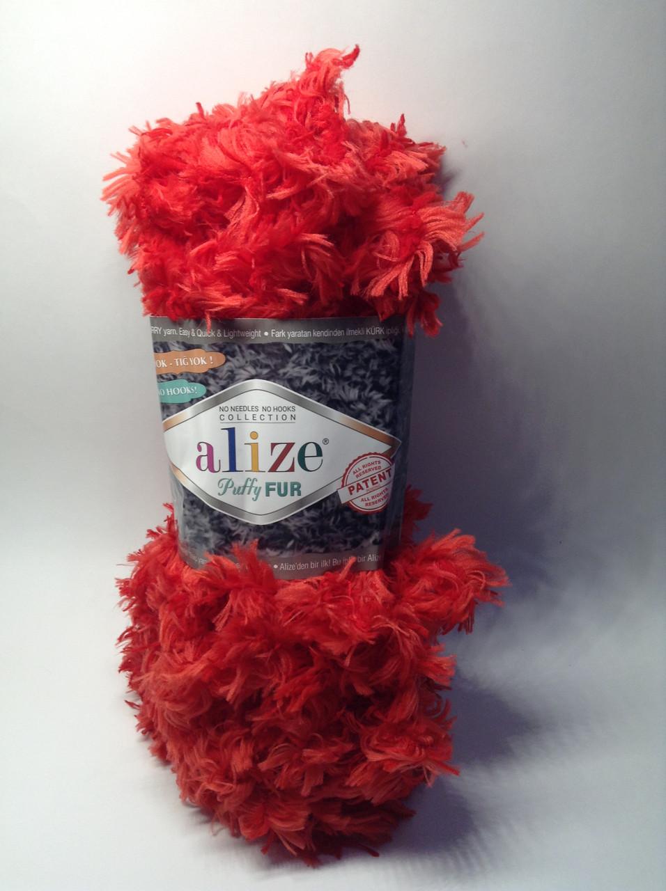 Пряжа для в'язання руками без спиць Puffy Fur Alize (100 грам - 6 метрів)