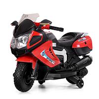Детский электромотоцикл 3625 EL-3 красного цвета.