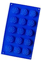 Силиконовая форма для выпечки и десертов Розочки на 15 ячеек