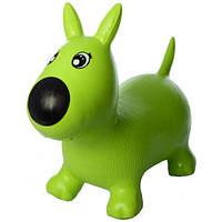 Игрушка-тренажер для малышей Прыгун-собачка MS1592 (Зеленая)
