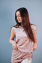 Велюровый костюм: штаны и майка, фото 2