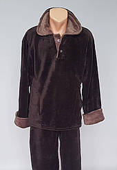 Мужская махровая пижама большого размера