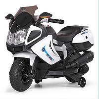 Детский электромотоцикл 3625 EL-1 белого цвета.