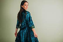Велюровая пижама: комплект майка+шорты (изумрудная), фото 3