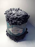 Пряжа для вязания руками без спиц  Puffy fine ombre batik Alize ( 500 грамм - 73 метра)