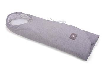 Конверт в коляску і автокрісло Cottonmoose ODWF 439/49/51 melange cotton jersey white cotton jersey (сірий меланж)