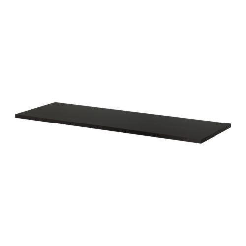 """ИКЕА """"ЛИННМОН"""" Столешница, черно-коричневый 200x60 см"""